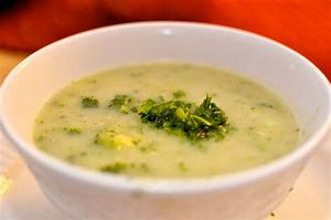 Cream of Broccoli Soup with Leeks and Extra Virgin Olive Oil