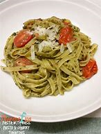 Quick Fresh Tomato Sauce with Ricotta and Fresh Basil over Sweet Basil Trenette