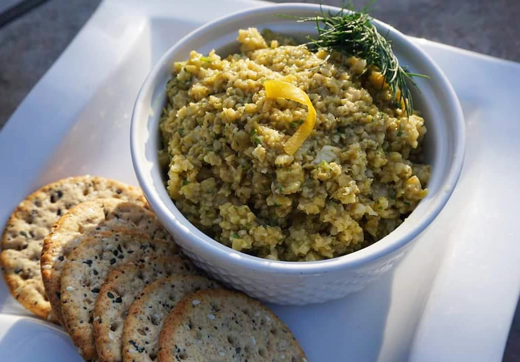Lemon Stuffed Olive Tapenade with UP Extra Virgin Olive Oil