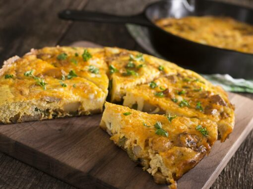 5 Pepper Frittata with Sausage