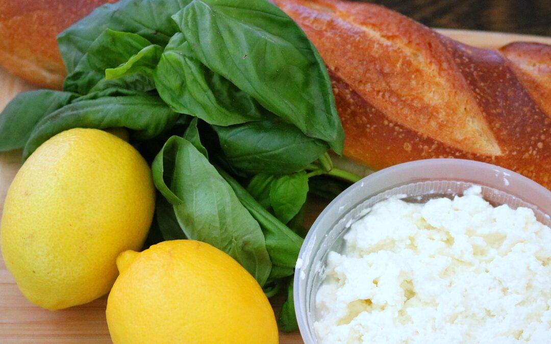 SUPER SIMPLE LEMONY RICOTTA SAUCE OVER LEMON PARSLEY MAFALDINE