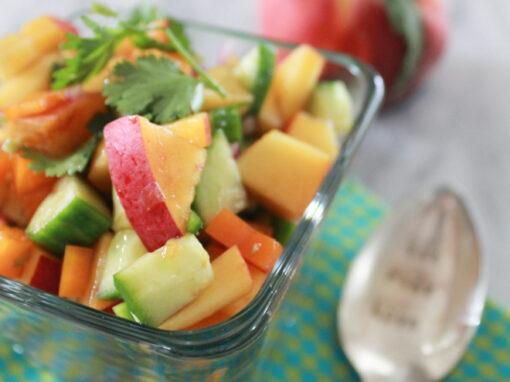Peach & Cucumber Salsa