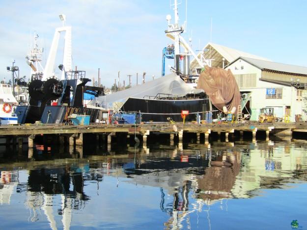 F/V American Eagle, Pacific Fishermen Shipyard, home of many Alaska commercial fishing fleets!