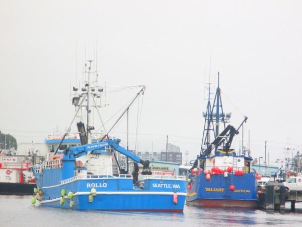 F/V Rollo, F/V Valiant, Fishermen's Terminal, Ship Canal crabbers getting ready for the season!