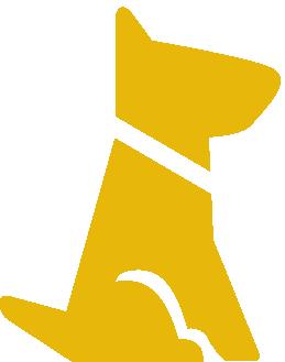 dog sitting (yellow)