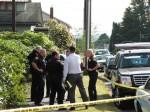 Everett Police at burglary scene