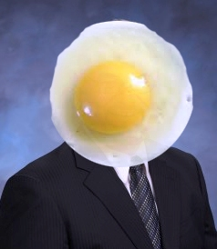 Egg on my face