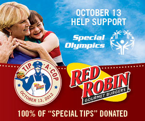 Tip A Cop at Everett Mall Red Robin Saturday