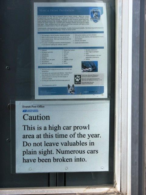 Everett Post Office Car Prowls