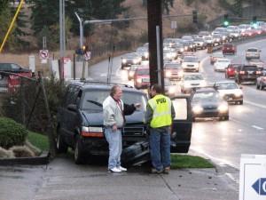 Van-pole accident