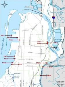 Everett Sewage Flow map