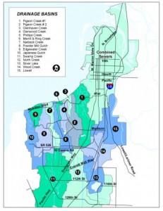 Everett storm water map