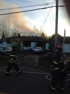Sharon Drive house fire