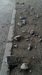 debris from overpass