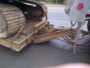 broken trailer