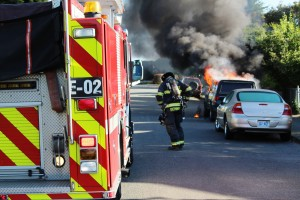 Truck Fire on Cleveland A