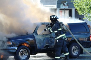 Truck Fire on Cleveland B