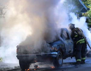 Truck Fire on Cleveland D