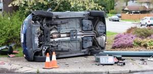 Mini-Cooper crash