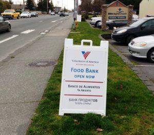 pop up food bank