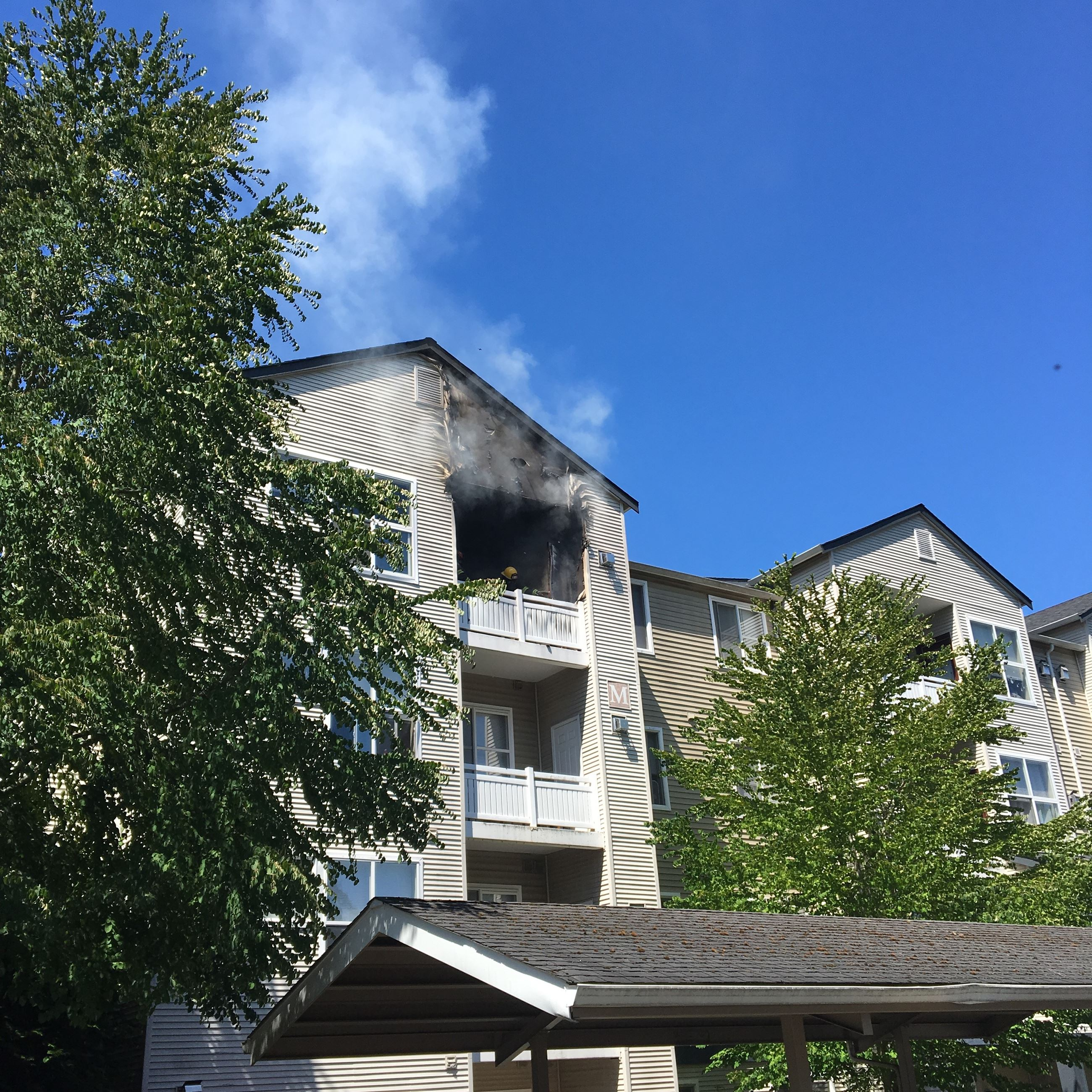 Discarded Cigarette Blamed For Apartment Fire