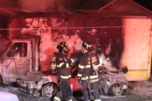 Truck fire