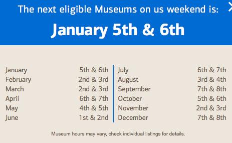 boa free museum days
