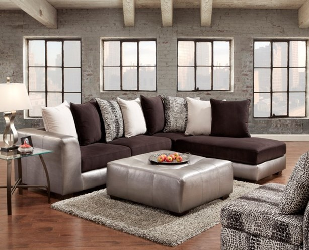 union furniture livingroom 6350 Shimmer pewter