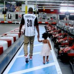 Beyonce, Jay Z & Blue Ivy Visit The Indoor Go Kart Race Track (PICS).