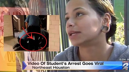 student tackled texus cops tackle girl