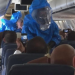 Ebola is no Joke..A Prankster Sneezed And Yelled He Had Ebola On A Plane (Video).