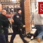 NYPD cop kicks another officer in the head during subway arrest. (Caught On Camera).