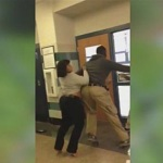 "Female Teacher & 17 year old Student Brawl in Baltimore School (Video). ""I'll F**king Kill You"