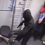 Shocking Video Of Armed robbery at Domino's Pizza in Corby.