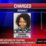 Memphis Woman beats husband's girlfriend when served with divorce papers.
