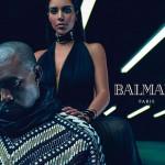 Kanye West & Kim Kardashian in New Balmain Campaign