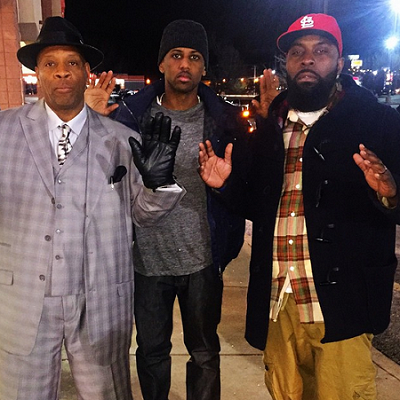 Fabolous meets mike browns Parents in Ferguson