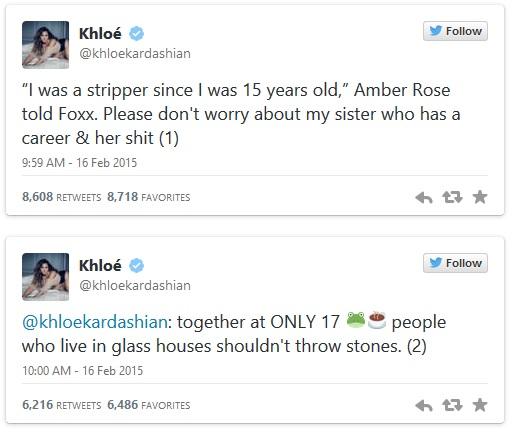 khloe kardashian diss Amber rose 1