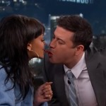 Rihanna does the Twizzlers Challenge on the Jimmy Kimmel show & More.