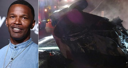 Hero Actor Jamie Foxx Rescues a Man From Burning Car