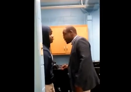 No Respect Middle School Student Fights His Teacher!