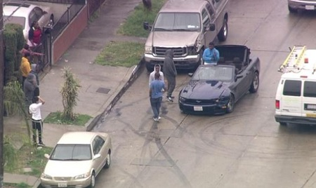 Burglary Suspect Lead Police On A Wild Chase Doing Donuts And ALL