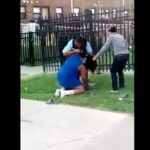 Caught On Camera: Grandma Exchanges Blows With A Police Officer!
