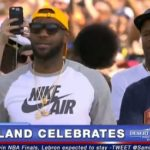 Check Out: LeBron James Emotional Speech At The Victory Celebration in Cleveland!