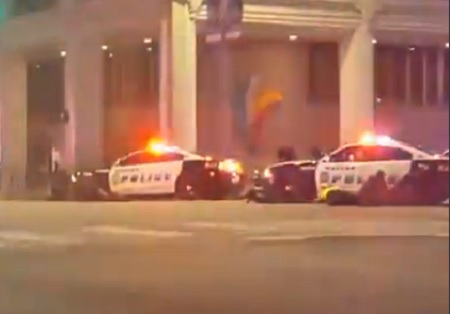 Facebook live broadcast while Dallas shooting went down.