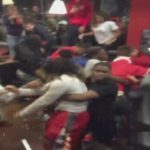 Brutal High School Brawl Breaks Out After Football Game At Restaurant.