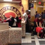 Popeye's Employees Caught On Video Fighting Customers.