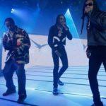 """Travis Scott, Quavo & Takeoff Perform """"Eye 2 Eye"""" On Jimmy Kimmel Live!"""