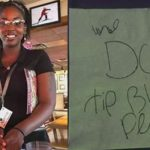 "Customer Leaves Applebee's Server Racist Note ""We Don't Tip Black People""."