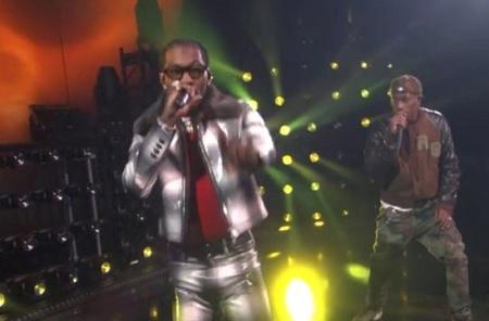 "6abfb5c74cb4 Travis Scott and Migos' Offset on performs ""Legacy"" on ""The Ellen DeGeneres  Show."
